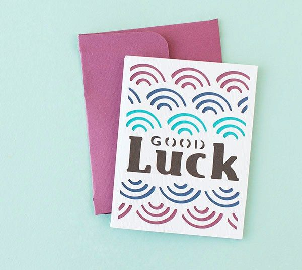 Diy Cards Card Making Designs Good Luck Cards Paper Cards