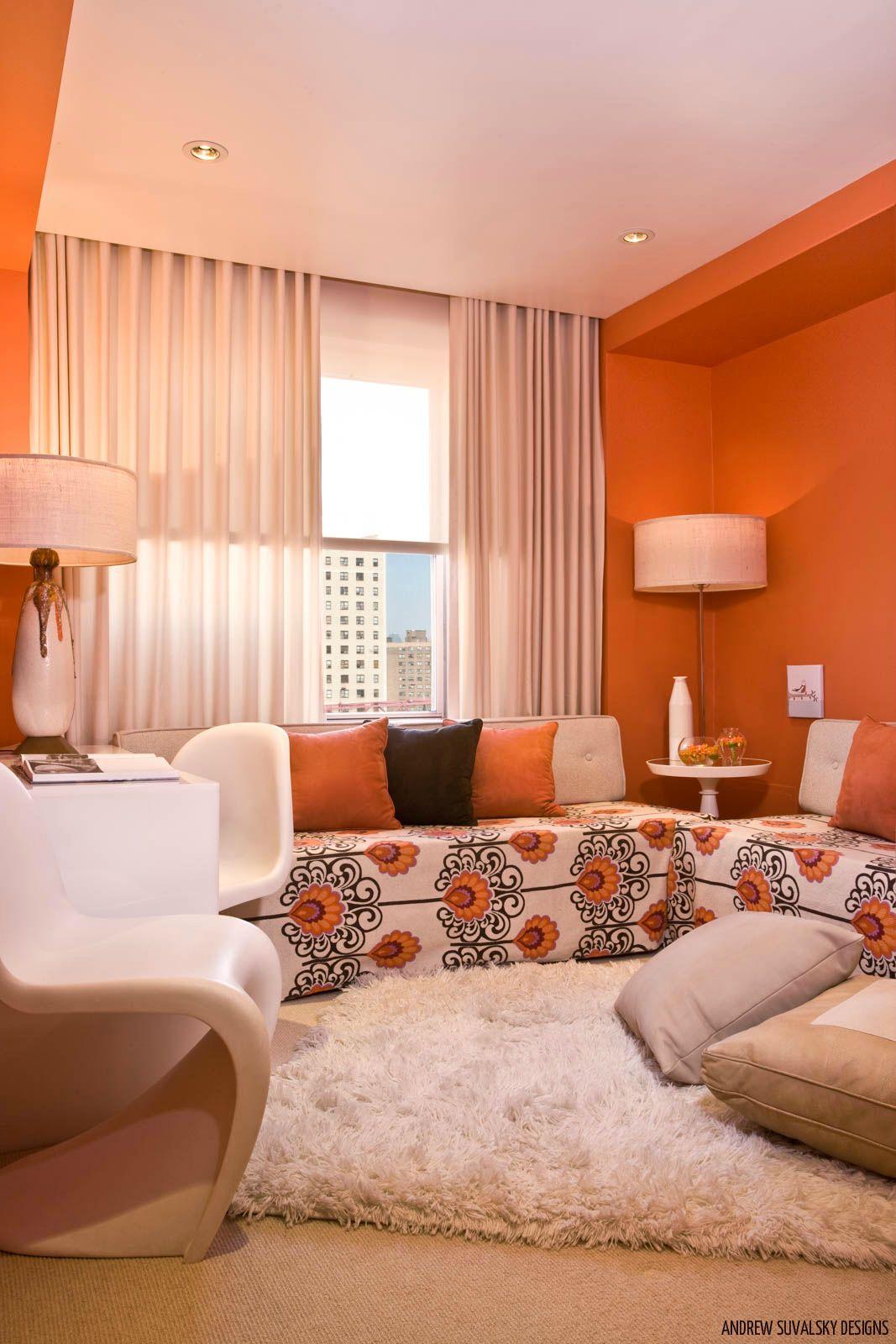 #MondayMood It's fresh, fun and modern : #Orange brings ... on Fun Living Room Ideas  id=42958