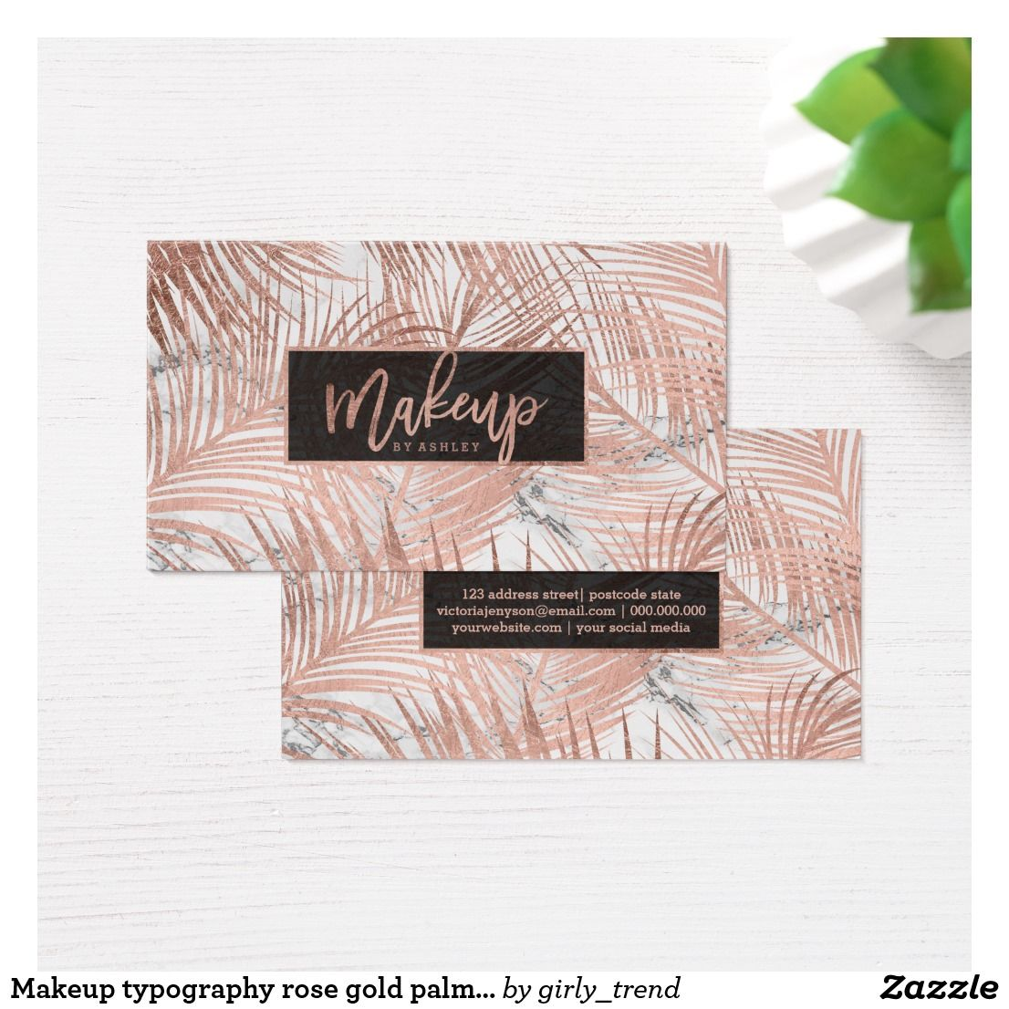 Makeup typography rose gold palm tree leaf marble business card makeup typography rose gold palm tree leaf marble business card magicingreecefo Gallery