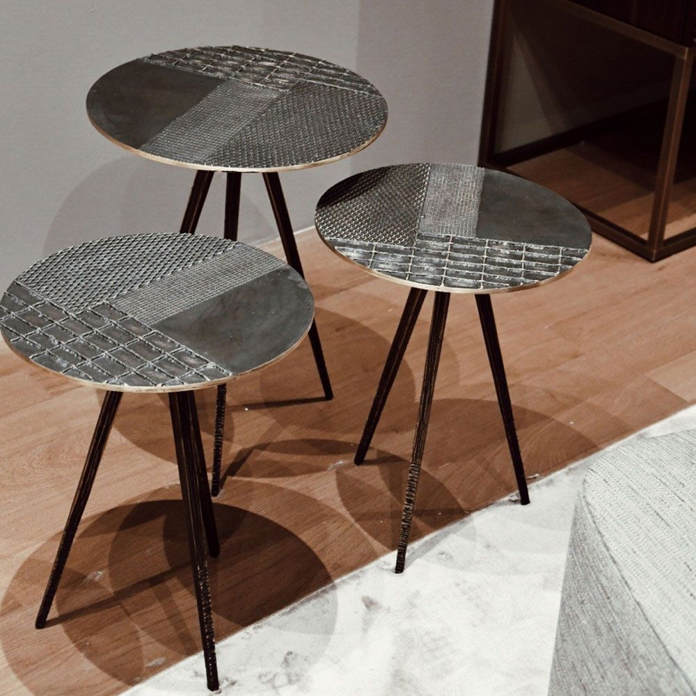 H H Studio Dubai Touch Side Table By Emmemobili Metal Side Table Round Metal Side Table Table [ 1000 x 1000 Pixel ]