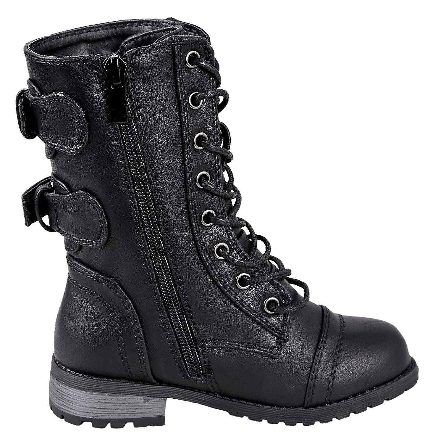 Forever Link Girls Mango 61K Lace Up Boots | Combat Boots