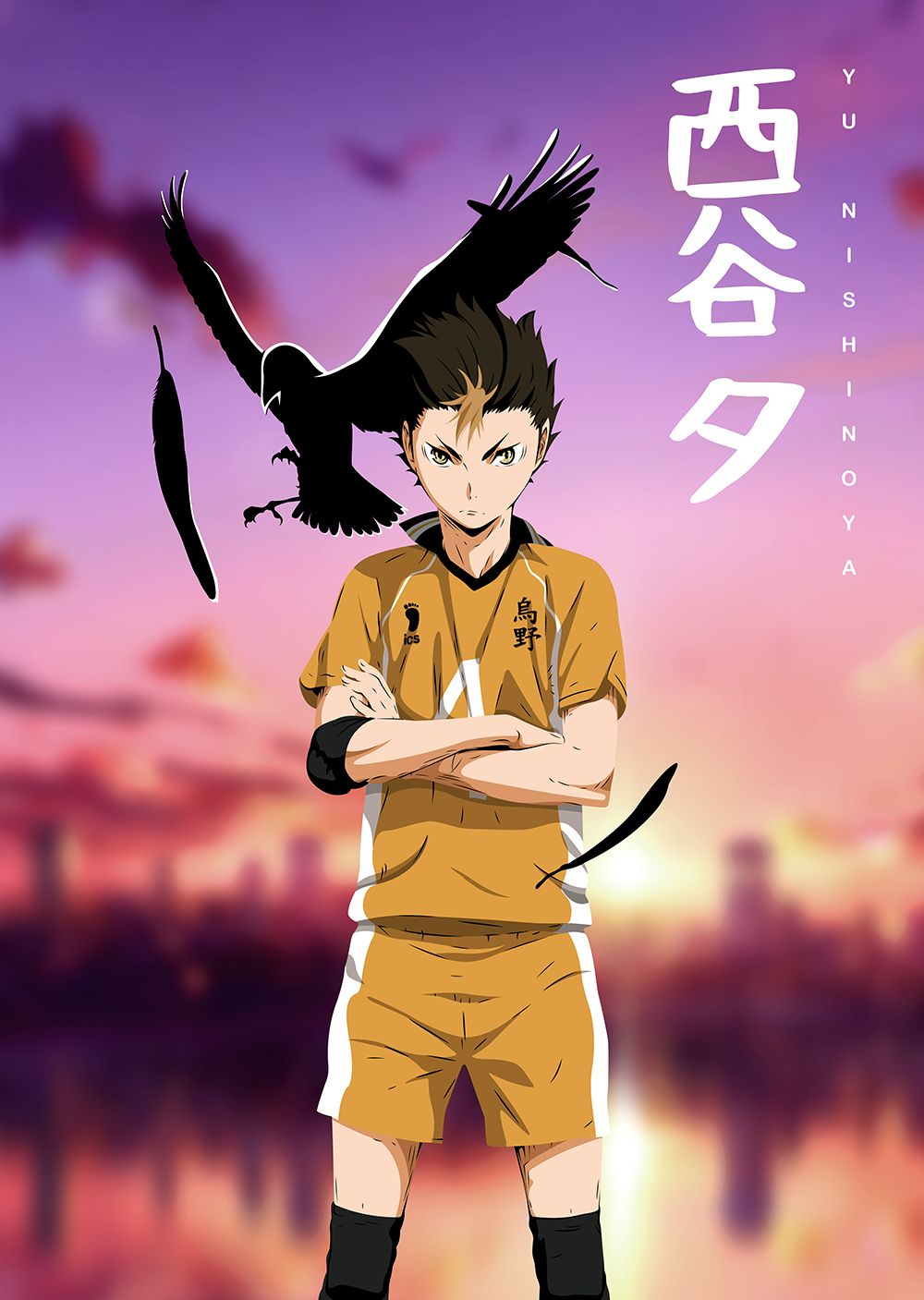 Anime Haikyuu Nishinoya 03 Anime & Manga Poster Print