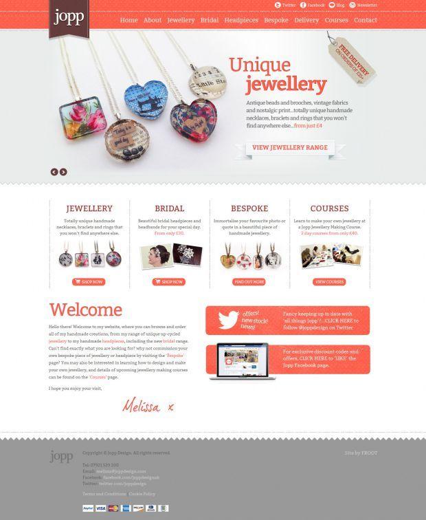 Jopp Beautiful Unique Handmade Jewellery Webdesign Inspiration Www Niceoneilike Com Web Design Web Development Design Creative Website Design