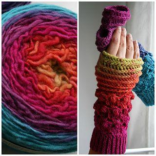 Rainbow mitten crochet pattern 246