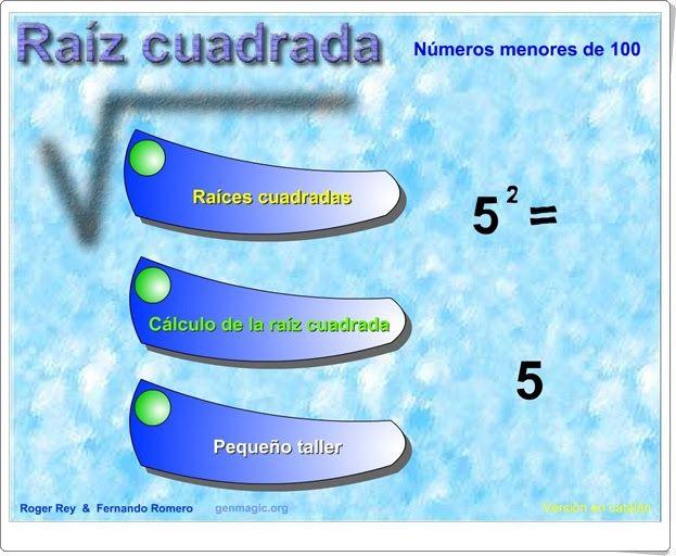 Raíz Cuadrada Matemáticas De 6º De Primaria Raiz Cuadrada Matematicas Primaria Matematicas