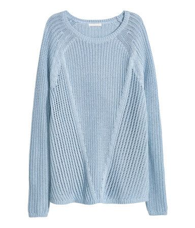 Pattern-knit Sweater | Light blue | Ladies | H&M US | Wish list ...