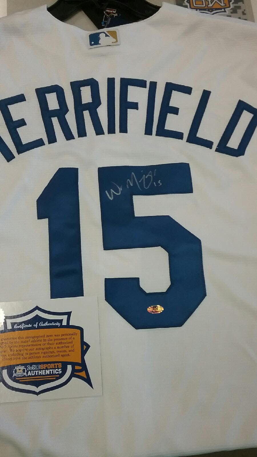 promo code 82c8a f30ff Kansas City Royals Whit Merrifield Signed Autographed Jersey ...