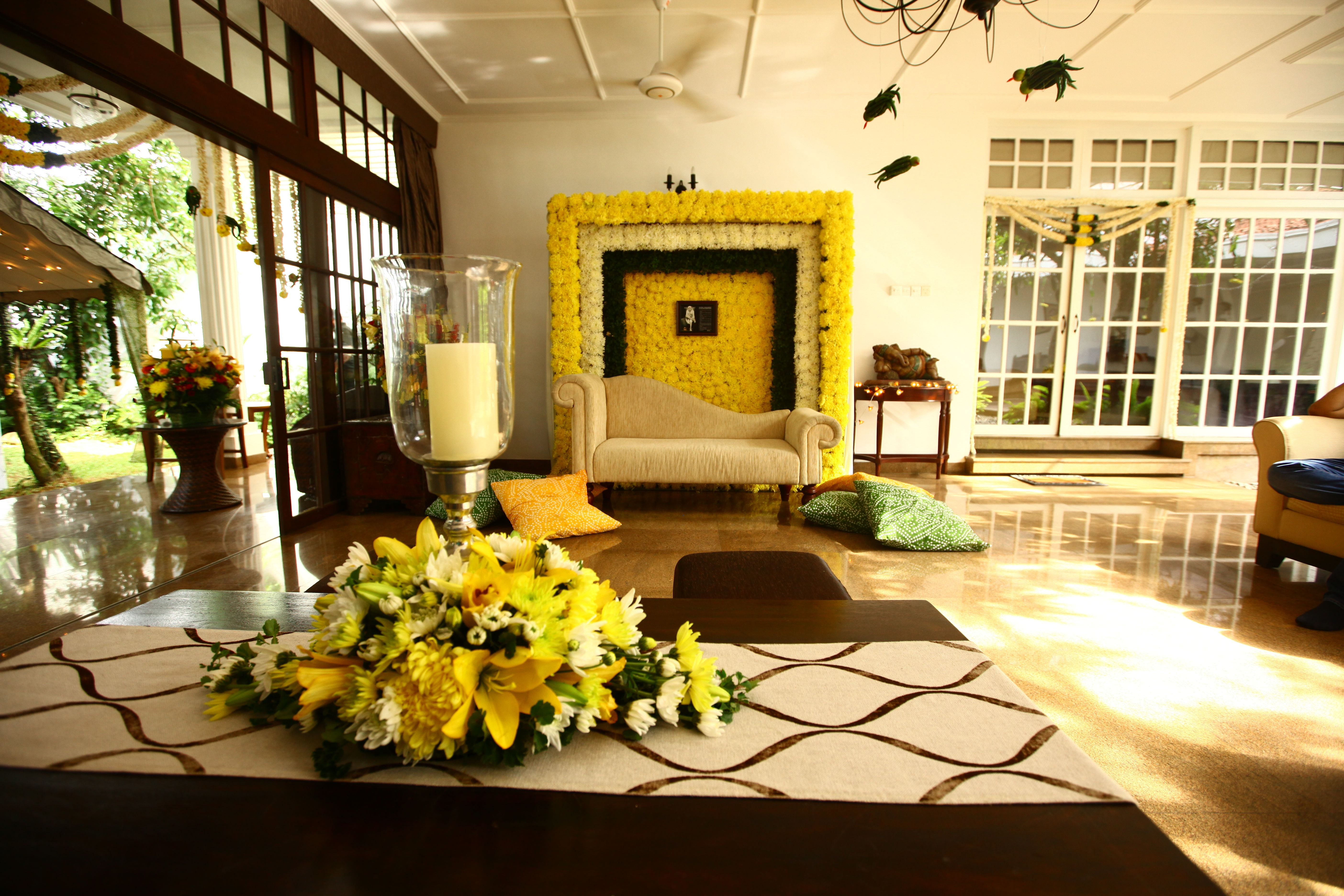 Gorgeous floral decor inside the house can use the floral background gorgeous floral decor inside the house can use the floral background to keep for ganesh puja junglespirit Choice Image