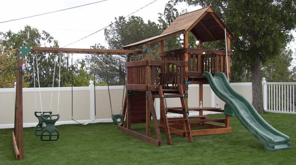 Genial Backyard Playsets | Refurbished Backyard Adventures Playset With 4 Ft. High  Sundeck And 5