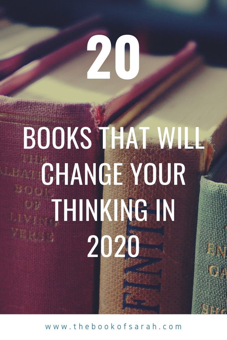 2020 books that will change your thinking in 2020 #bookstoread