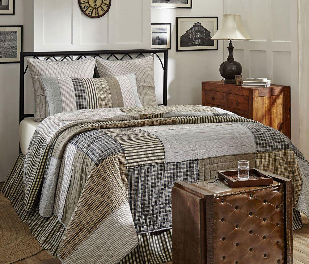 Ashmont Queen Quilt Queen quilt, Ticking stripe, Quilts