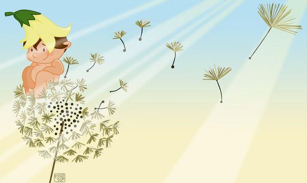 Resting on a dandelion