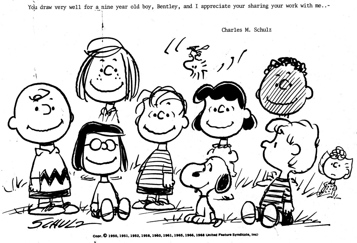 Charles\'s letter to Bentley | Charles M. Schulz - Art | Pinterest ...