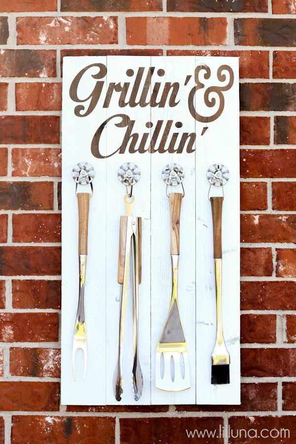 Homemade Fathers Day Gifts Decorative Signs Utensils And - Backyard gift ideas