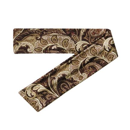 Brown Paisley Print Scarf Headband, $14.00 (http://stylishmode.com/long-headband-scarf/)