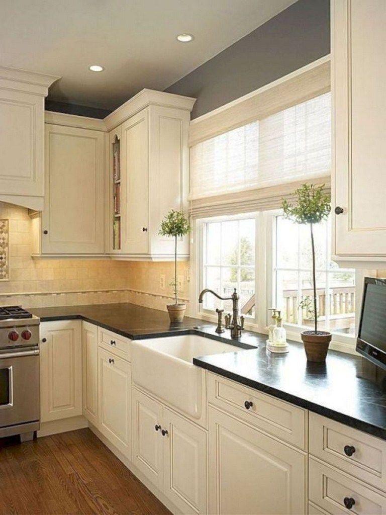 110+ Best Modern Farmhouse Kitchen Cabinets Ideas - Page 25 of 115 #darkkitchencabinets