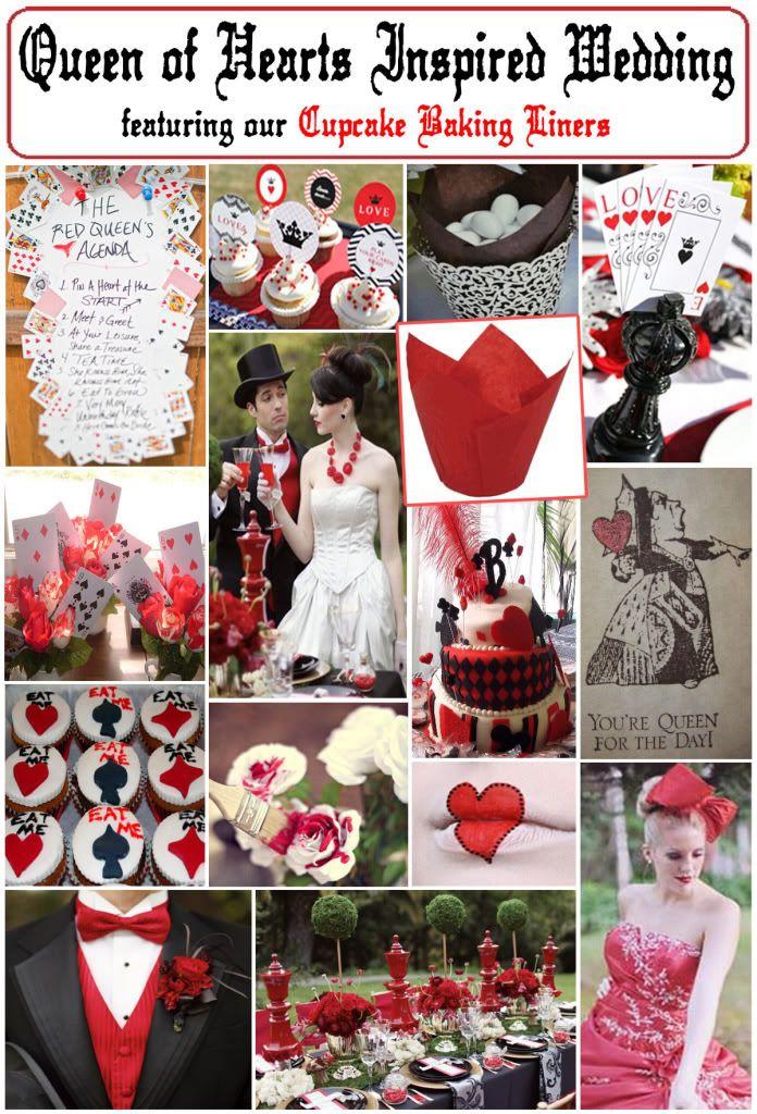 Queen Of Hearts Inspired Wedding Casino Theme Party Decorations Casino Theme Parties Queens Wedding