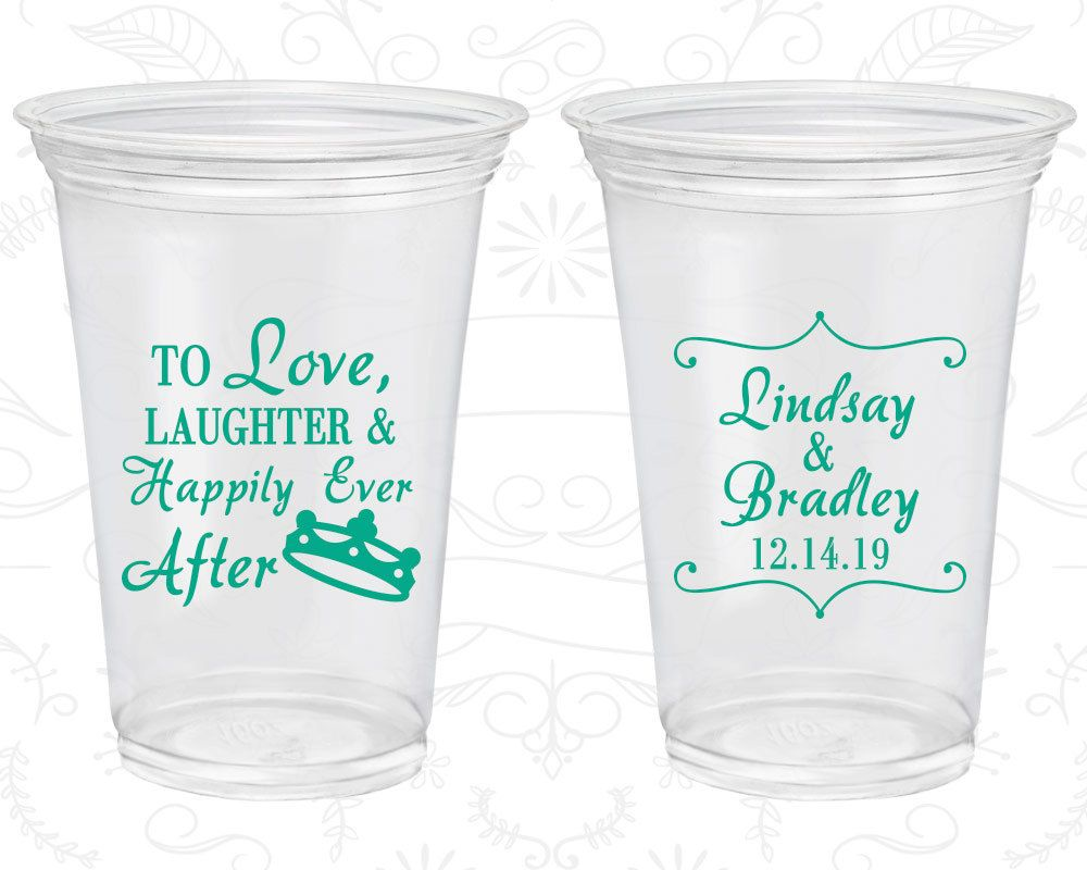 Funky Plastic Cups For Wedding Favors Image Collection - The Wedding ...