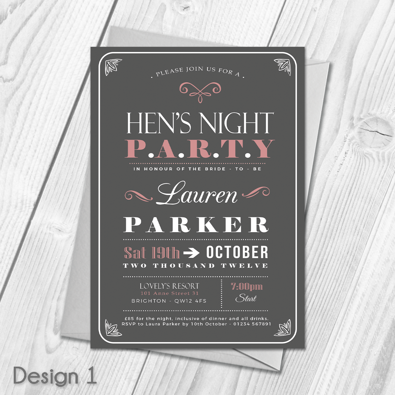 Personalised Hen Party Invitations | Ladies Bridal Shower Invites ...