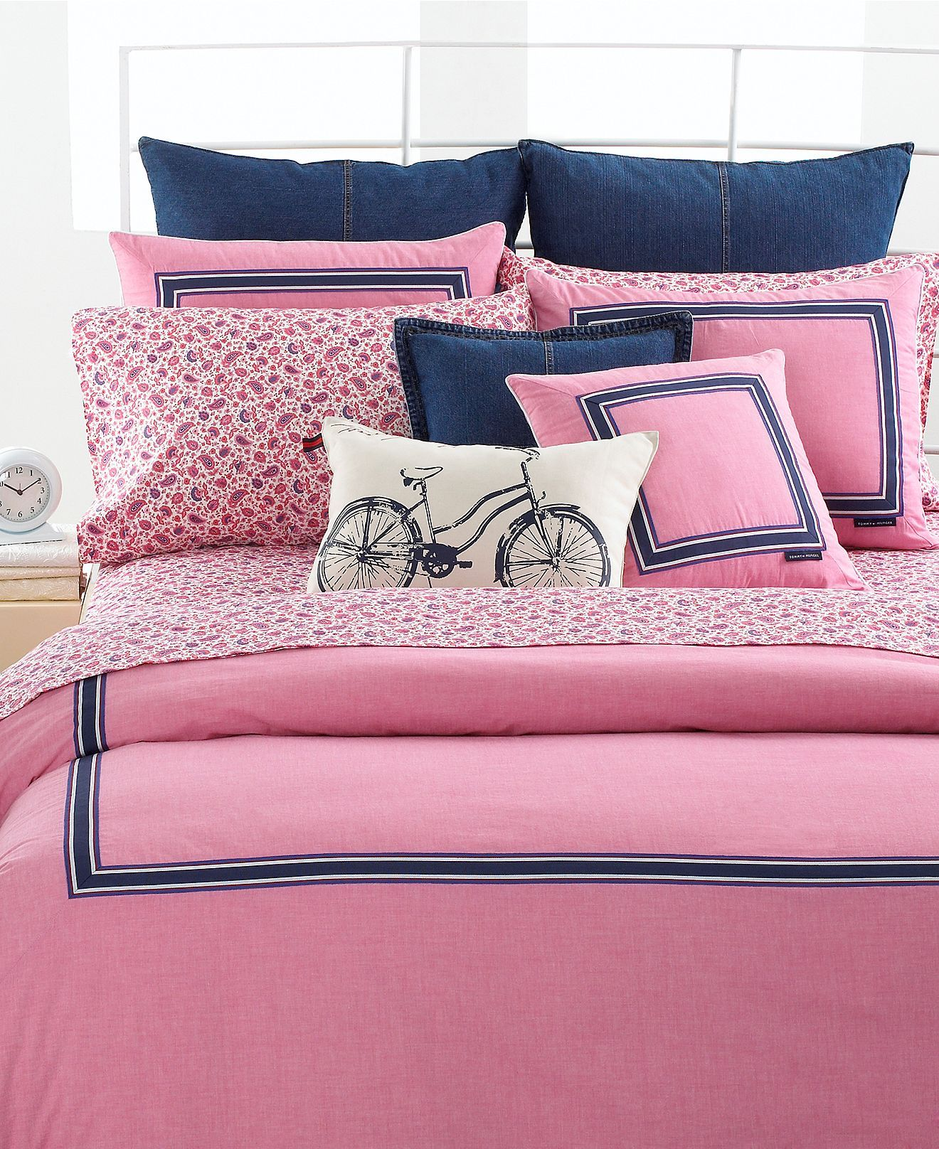 Bed And Bath Bettwäsche Tommy Hilfiger Bedding Pink Oxford King Duvet Cover Tommy