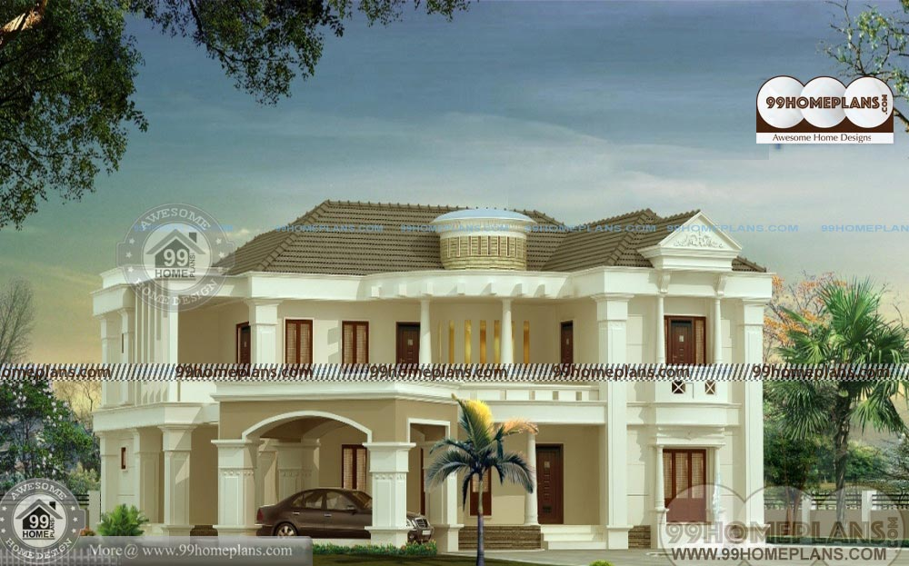Indian Model House Plan Design With Grand Big Luxurious Home Elevation Model House Plan House Designs Exterior House Blueprints