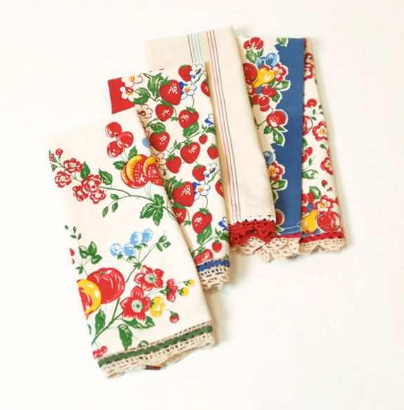 Retro Kitchen Linens: Vintage Dishes, Vintage