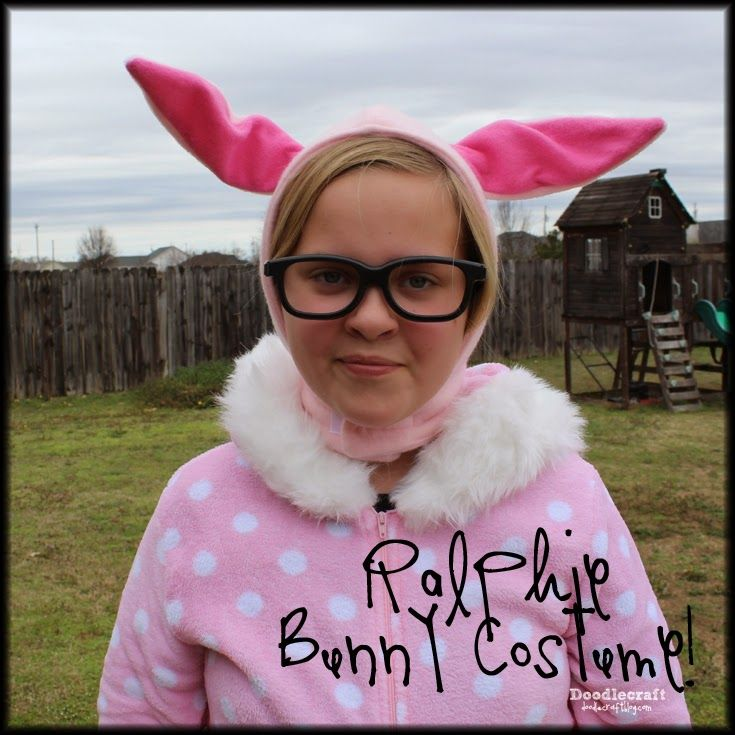 CHRISTMAS IN JULY Ralphie\u0027s Bunny Suit! DIY Costumes Pinterest