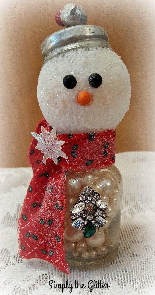 Vintage Salt Shaker Snowman \