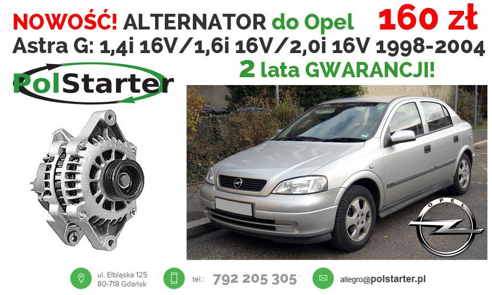 Alternator Opel Astra G Combo Corsa C Meriva 1 6 6775408638 Oficjalne Archiwum Allegro Alternator Opel Combo