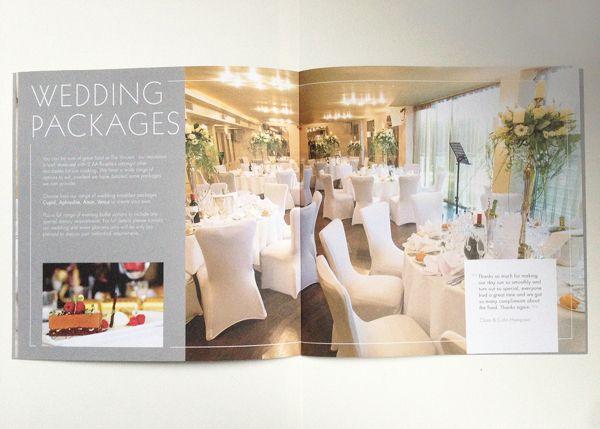 hotel brochure design inspiration - vincent hotel wedding brochure iv projects pinterest