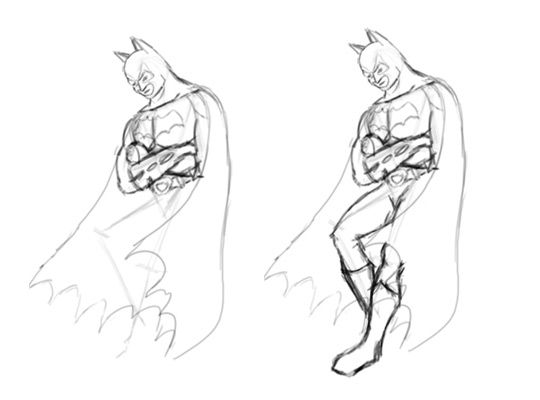 how to draw batman with pencil