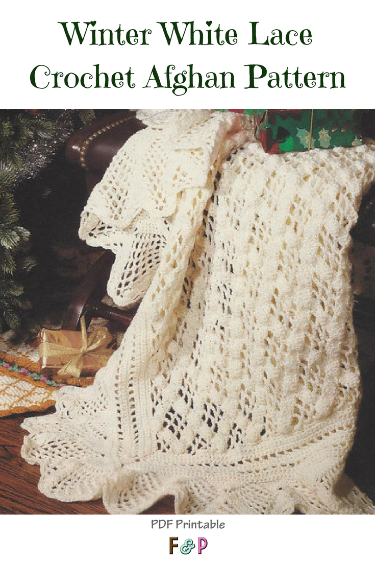 I love this vintage style lace afghan pattern... so delicate and ...