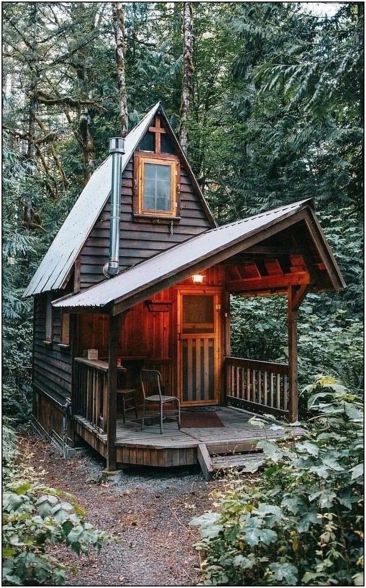 143 Genius Ideas For Your Tiny House Project 108 Tiny House Cabin Small Log Cabin Little Cabin