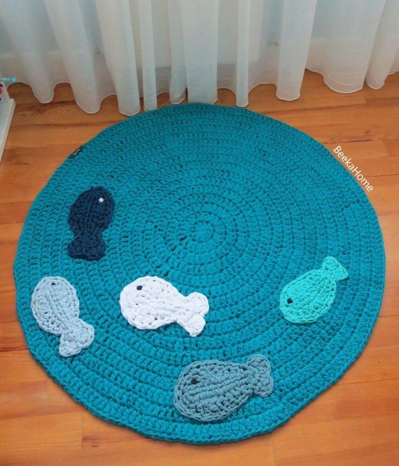 Alfombra ocean peces de colores en un mar turquesa www for Todo alfombras