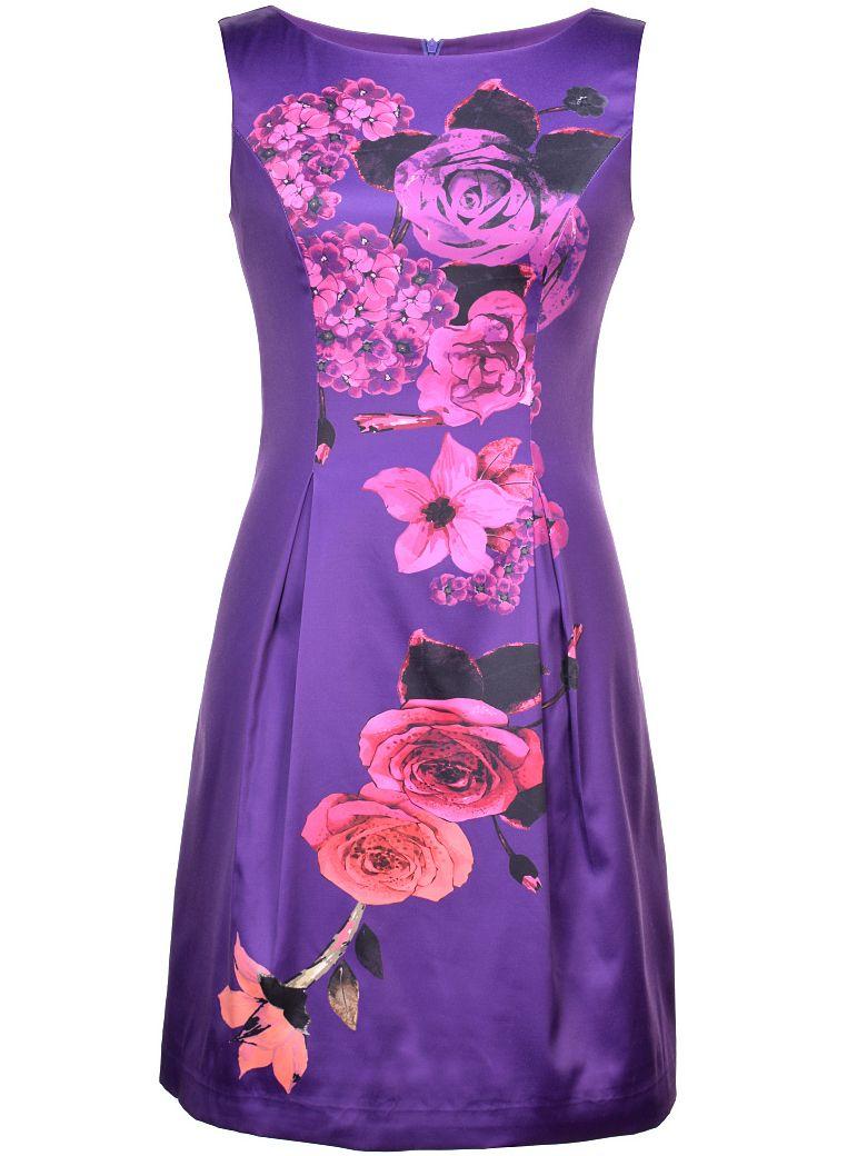 Vestido recto estampado floral-(Sheinside) | Vestidos | Pinterest ...