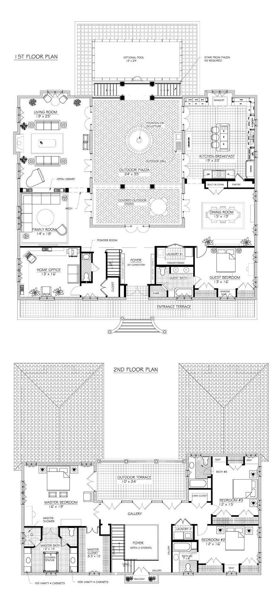 french farmhouse floor plans