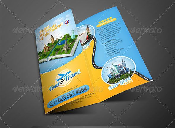 Tour-Travel-Trifold-Brochure Marketing Pinterest Brochures - vacation brochure template