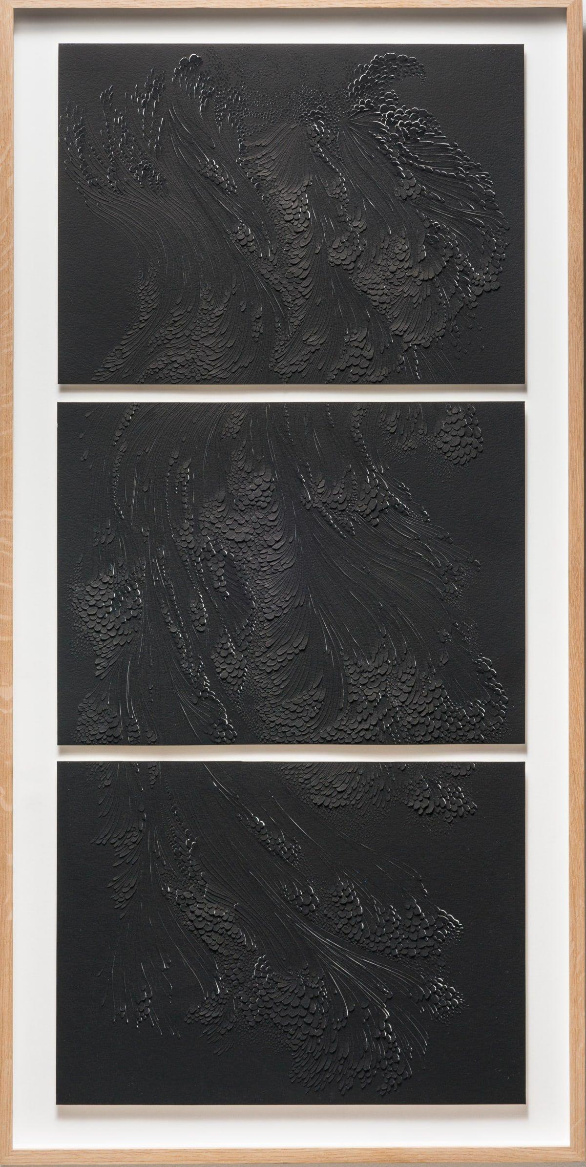 Lauren Collin Triptyque Noir 2016 Morden Art Monochrome Art Art