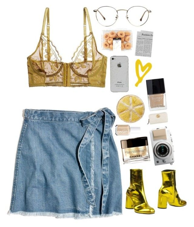 """Ideal day"" by mode-222 ❤ liked on Polyvore featuring Madewell, Maison Margiela, Butter London, Chanel, Gucci and Essie"