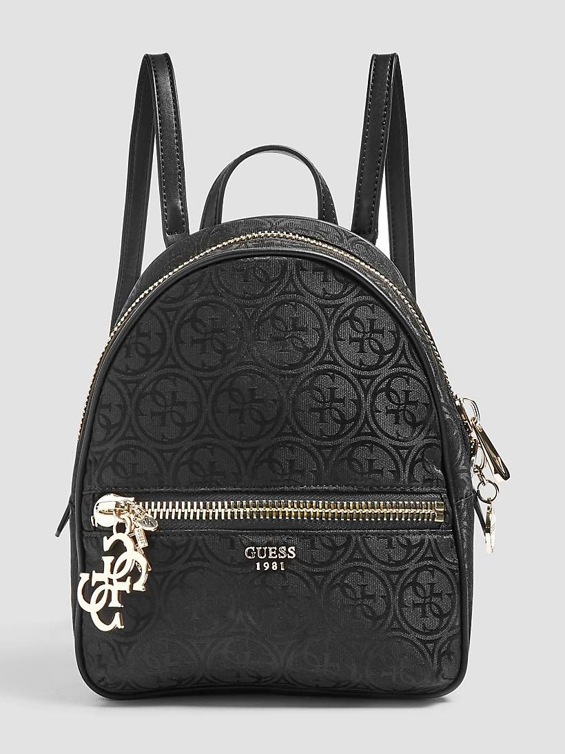 Urban chic logo print backpack | Guess backpack, Guess bags