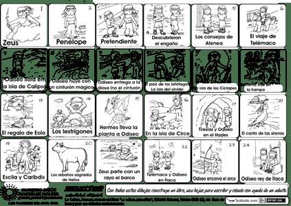 La Odisea De Homero Actividades De Lectura Y Escritura La Odisea Homero La Odisea Lectura Y Escritura