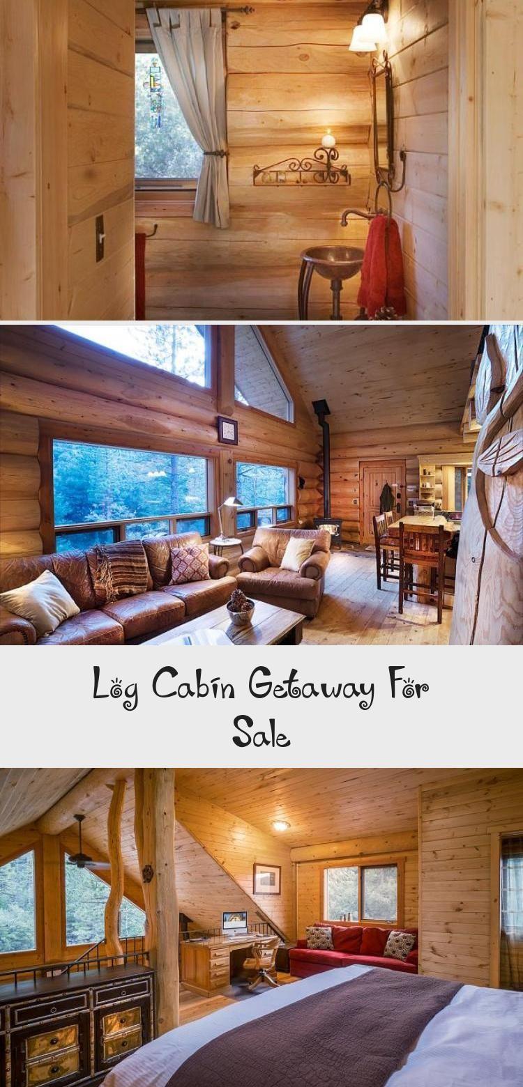 Log Cabin Getaway For Sale tinyhousekitchen Log Cabin
