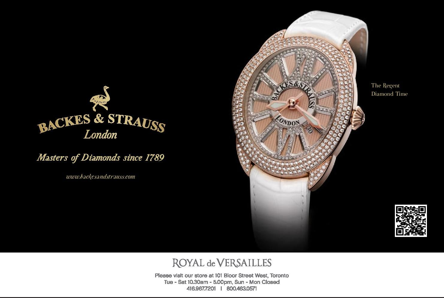 diamond watch regent strauss official backes video youtube jubilee
