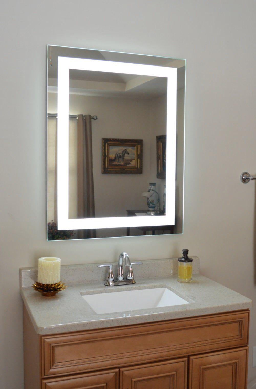 """FrontLighted LED Bathroom Vanity Mirror 28"""" Wide x 36"""