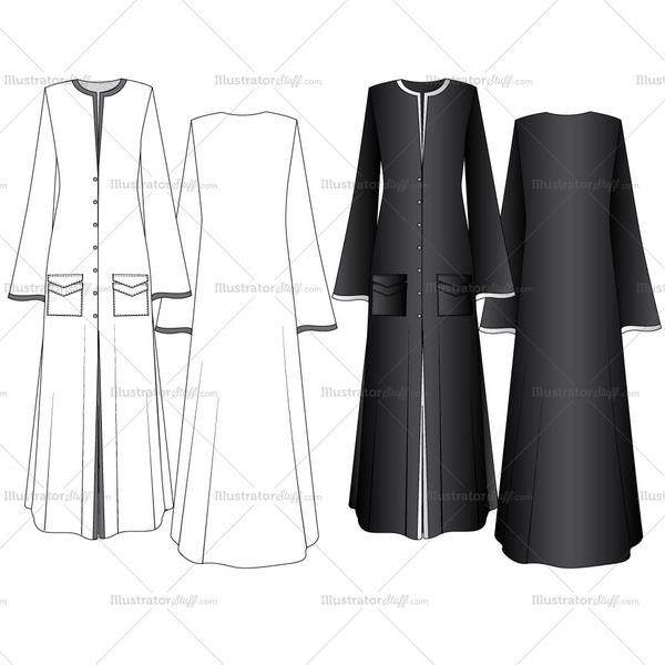Free Fashion Flat Templates Trim Pack Courses Free Tutorials On Adobe Illustrator Tech Packs Freelancing For Fashion Designers Fashion Abaya Fashion Fashion Sketches Dresses