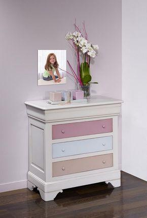 Commode 4 tiroirs Caroline en Merisier Massif de style Louis - comment patiner un meuble en merisier