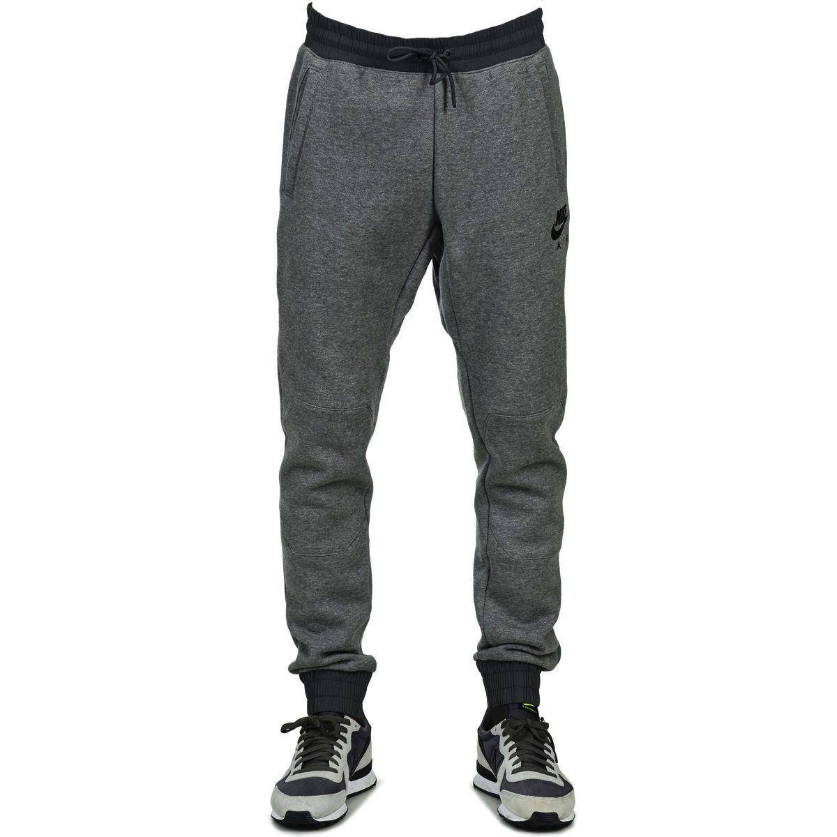Nike AIR HYBRID JOGGER MEN'S PANT 805158-091 'CARBON HEATHER/BLACK' size