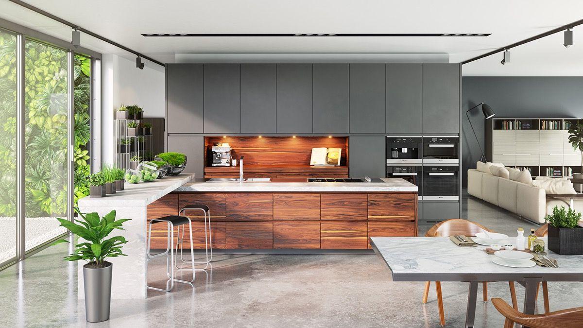 Modern Wood Kitchen Set