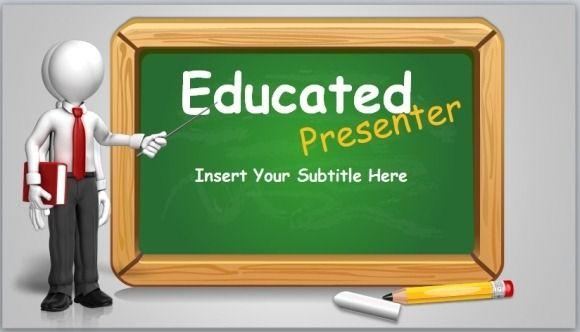 educated-presenter-powerpoint-templatejpg miku Pinterest - resume lesson plan