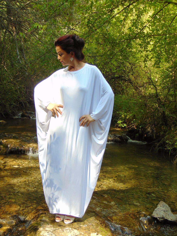 Angel Dress/White Abaya Dress/Plus Size Kaftan Dress/White Kaftan ...